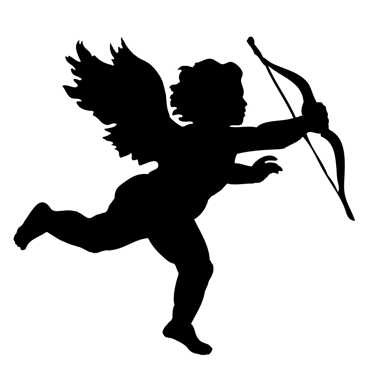 Angel silhouette png. Silhouettes clipart