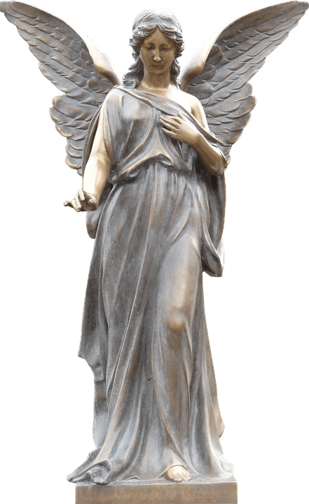 Angel monument transparent stickpng. Stone angels png png royalty free library