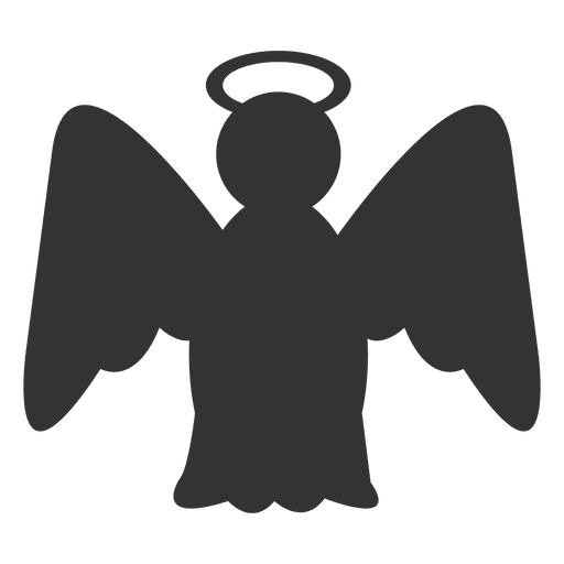Angel vector png. Icon silhouette transparent svg