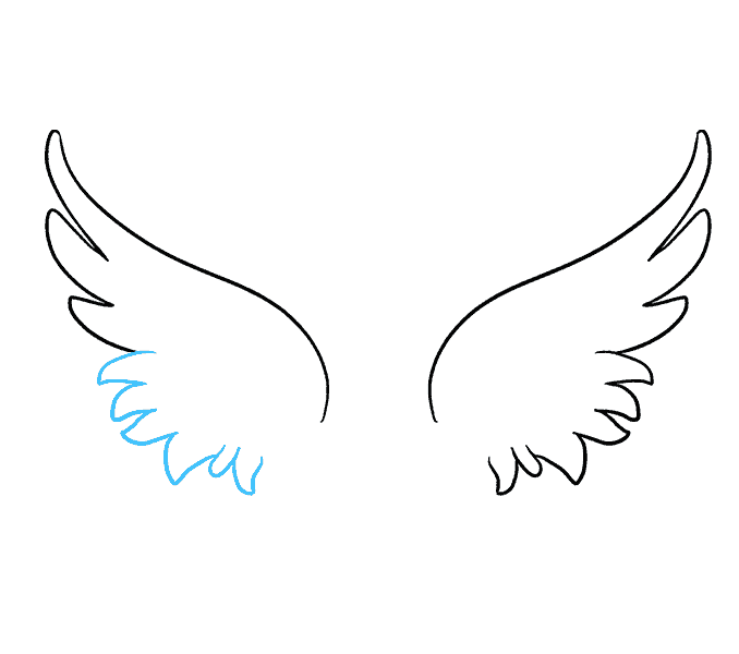 Angel wing outline png. Collection of easy
