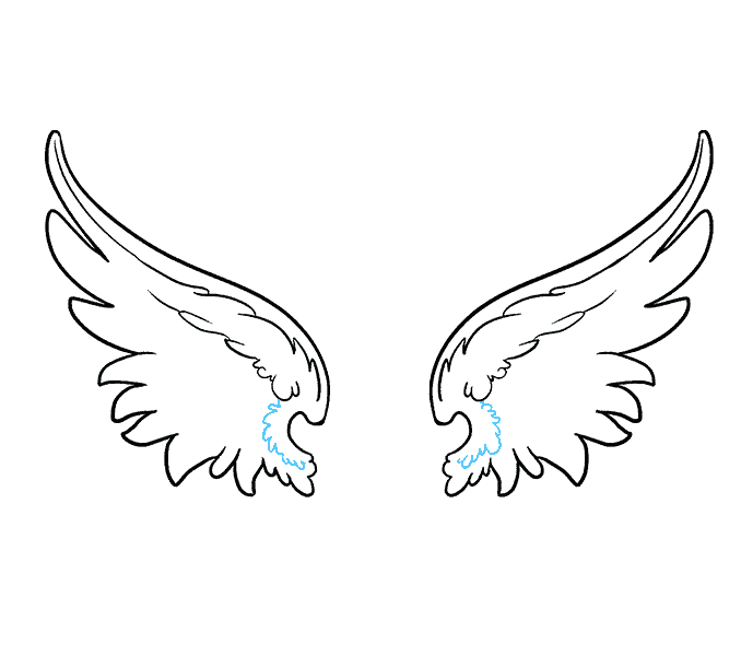 Cartoon wings png. Drawings of angel backgrounds