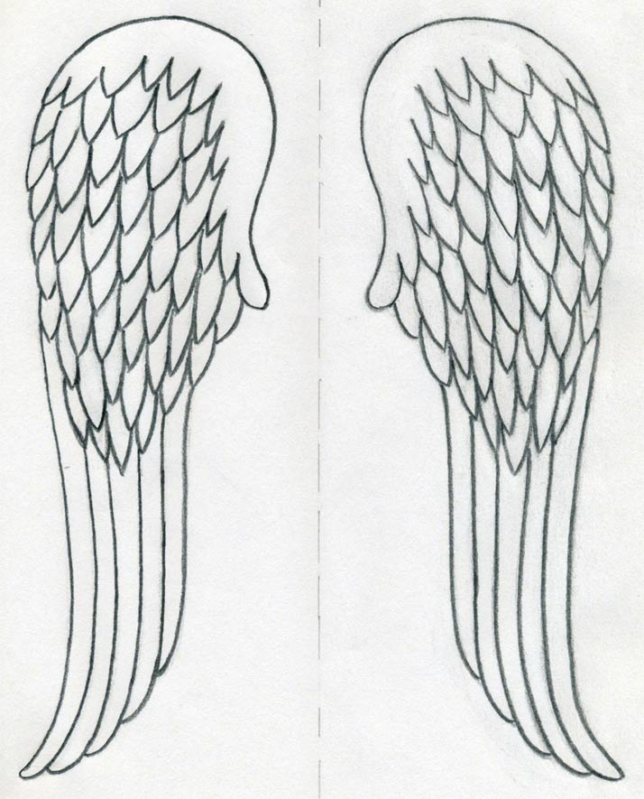 Angel wings drawing. How to draw quickly