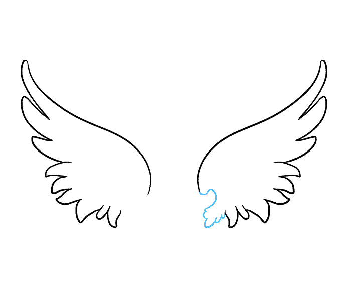 Wing svg angle. Angel wings drawings fast