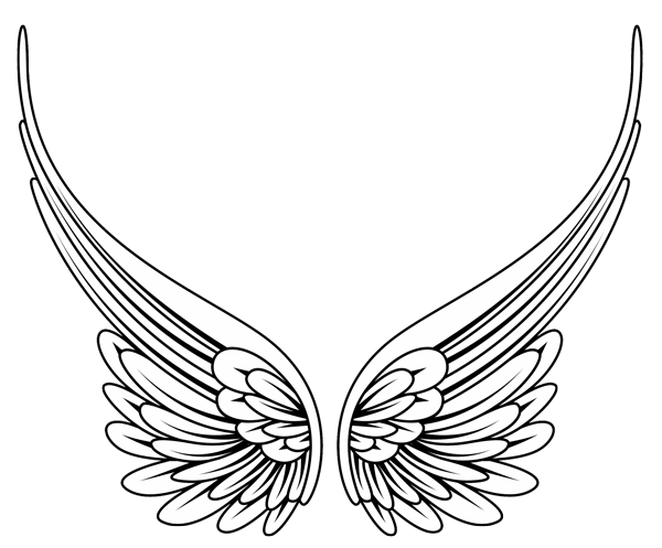 Wing svg angle. Traceable butterfly wings tribal