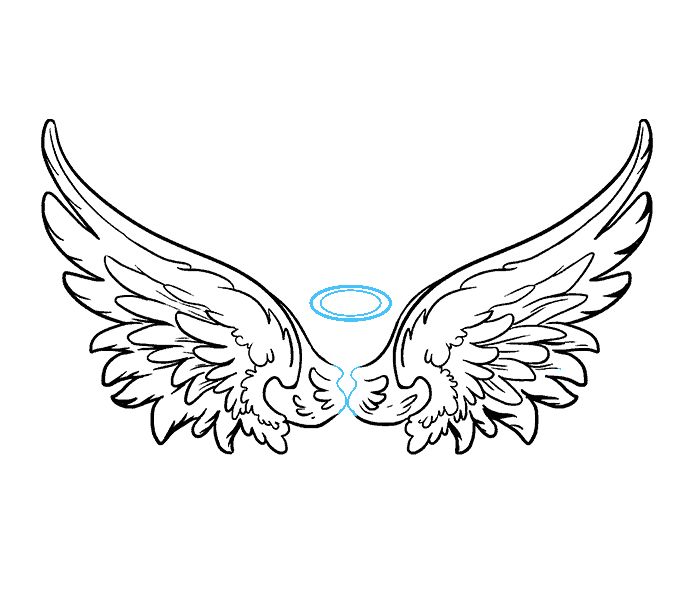 Angel wings drawing png. Image how to draw