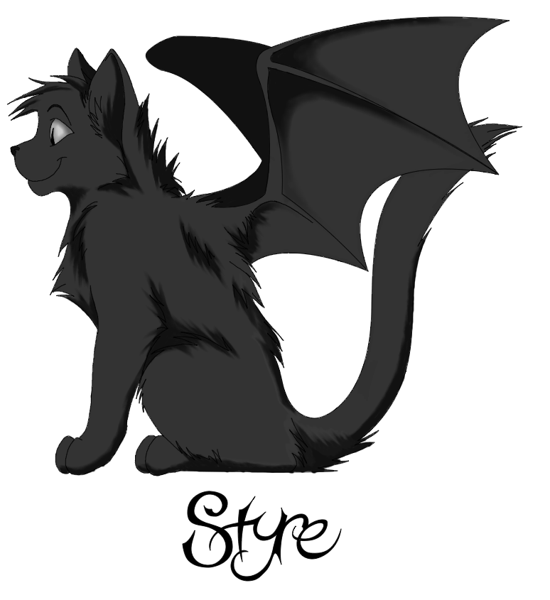 Angel wings for cats png. Styre cat demon form