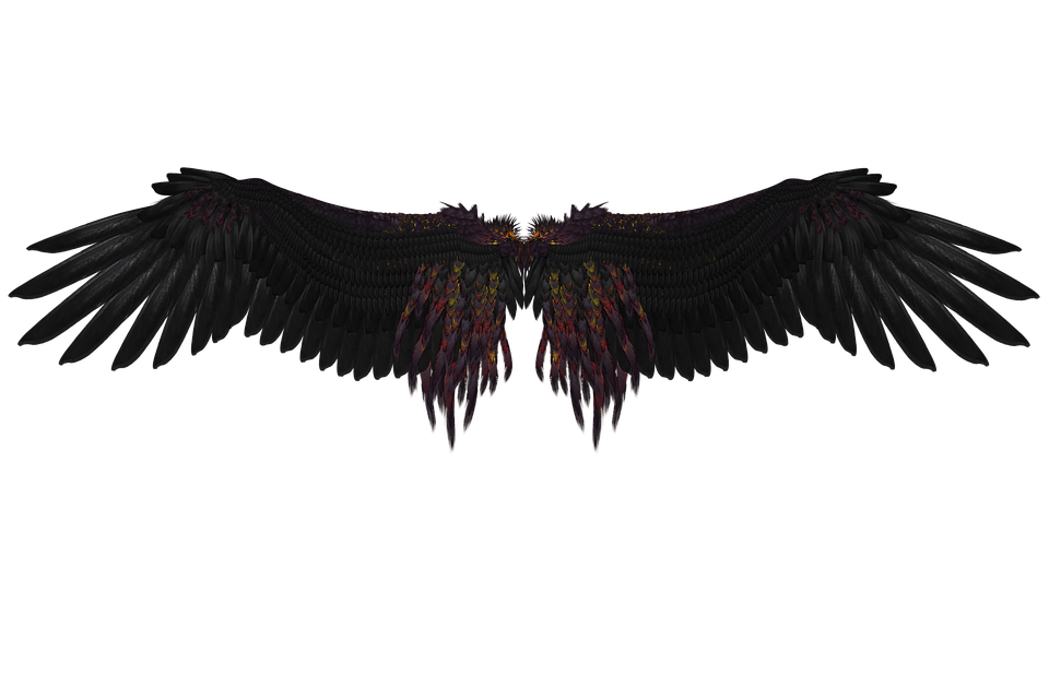 Image engel wing mystical. Black angel png clipart library