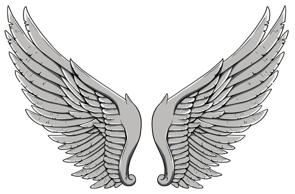 Wing tattoo on back images png. Wings tattoos transparent all