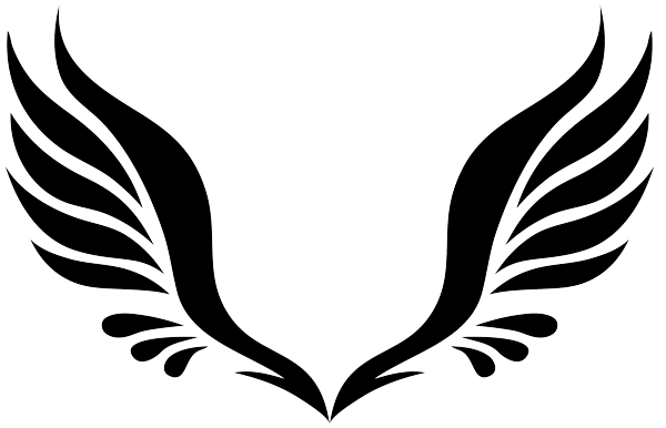 Angel wings tattoo png. Simple transparent stickpng