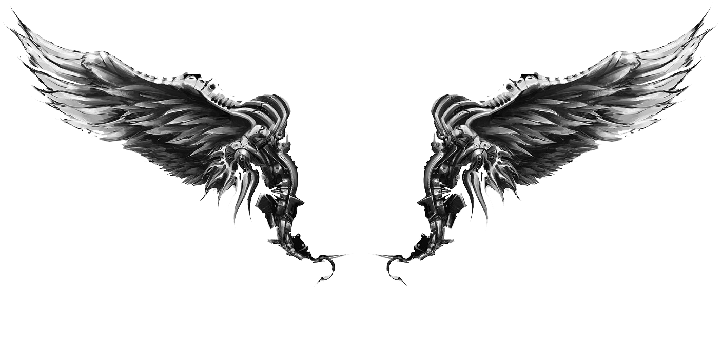 Wings transparent free images. Chest tattoos png clip transparent library