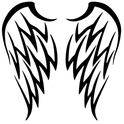 Wings tribal png. Wing tattoo simple inspiration