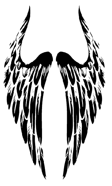 Wing tattoo on back images png. Tribal angel wings dim