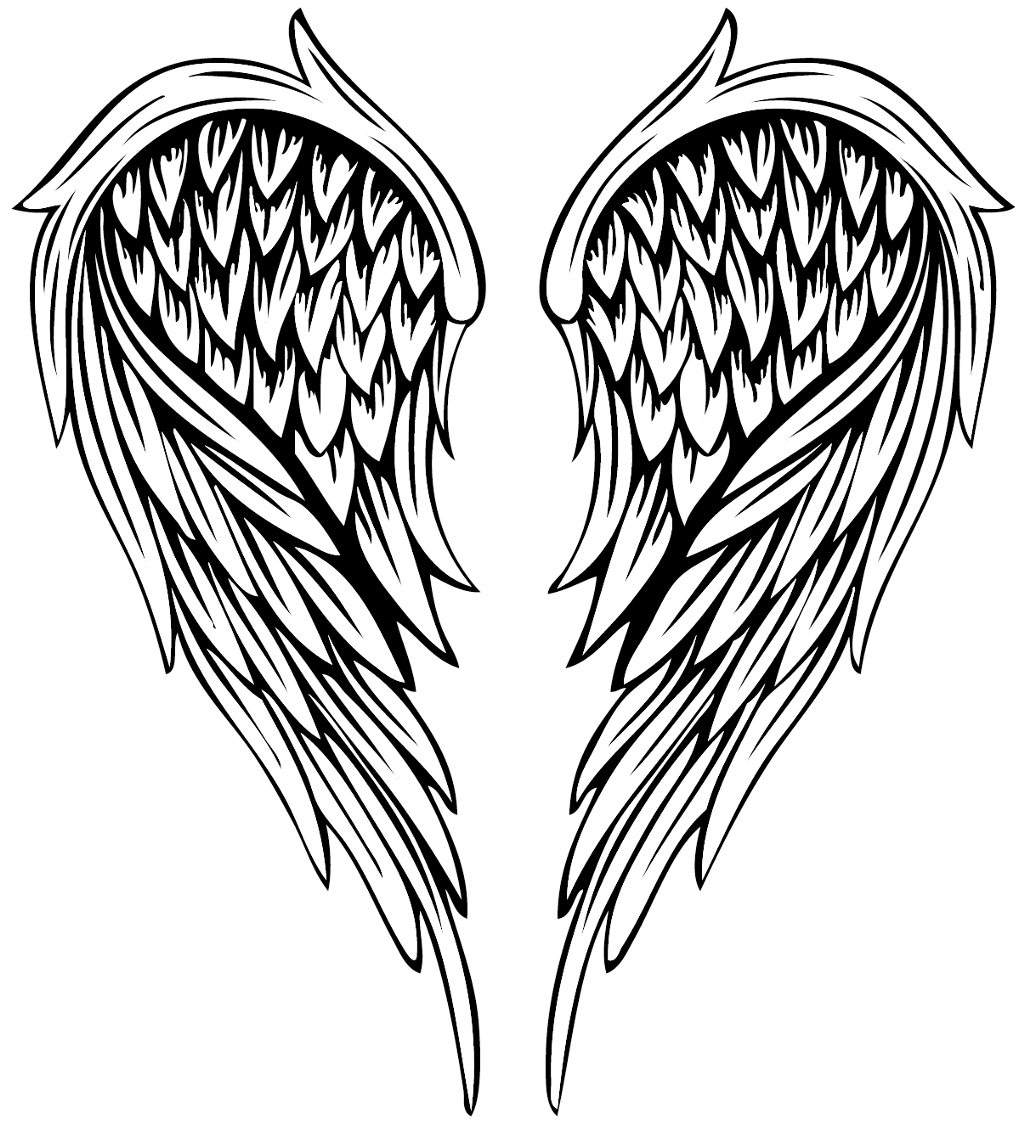 Angel wings tattoo png. Angelwings wing tattoos