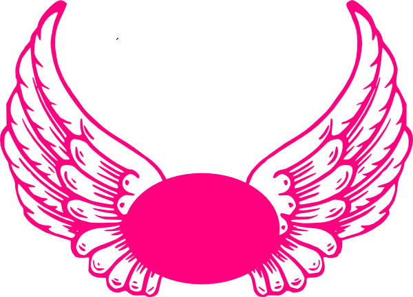Angel wings vector png. Hot pink guardian clip
