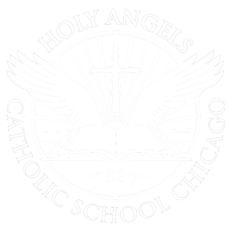 Angels catholic png. Holy school white logopng