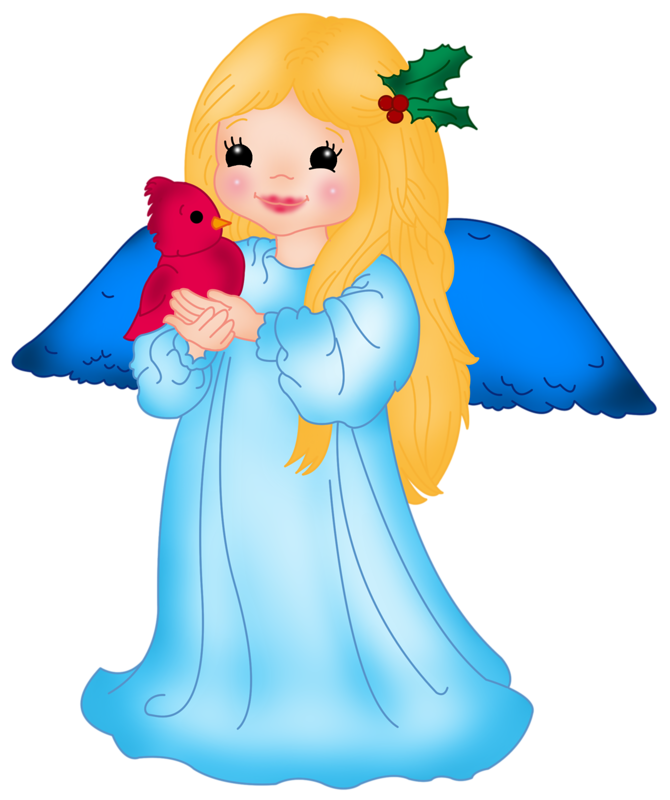 Angels clipart. Blue little angel with