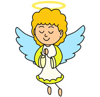 Angel clip art free. Angels clipart banner library library