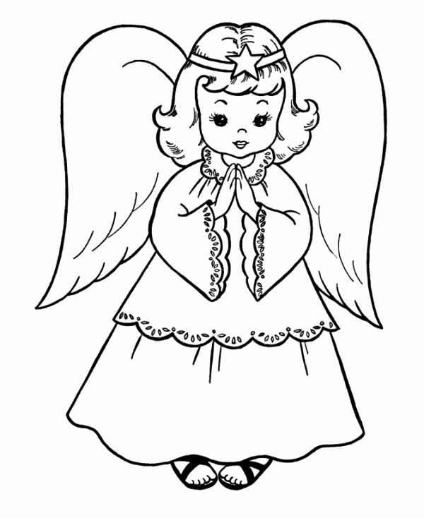 Angels Colouring Transparent Clipart Free Download