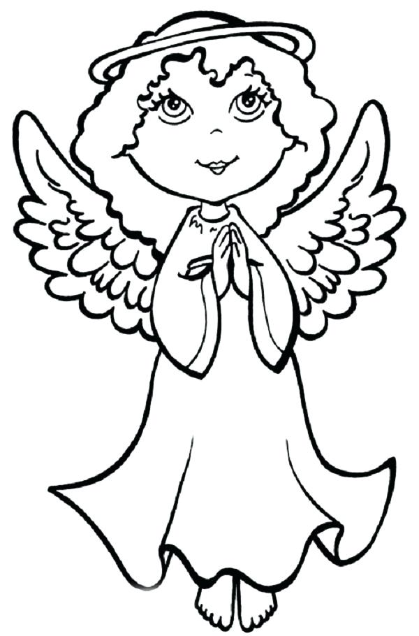 Free Printable Angel Coloring Pages For Kids | Fotos de anjo ... | 910x600