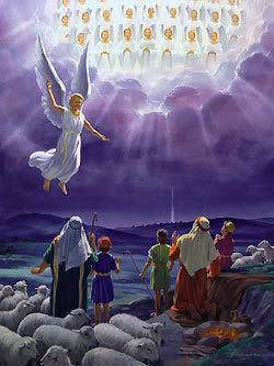 Angels clipart heavenly host. And suddenly there was