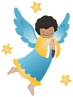 Angels clipart male angel. Vector cartoon image of