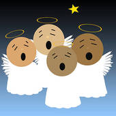 Angels clipart multitude. Angel heavenly host pencil