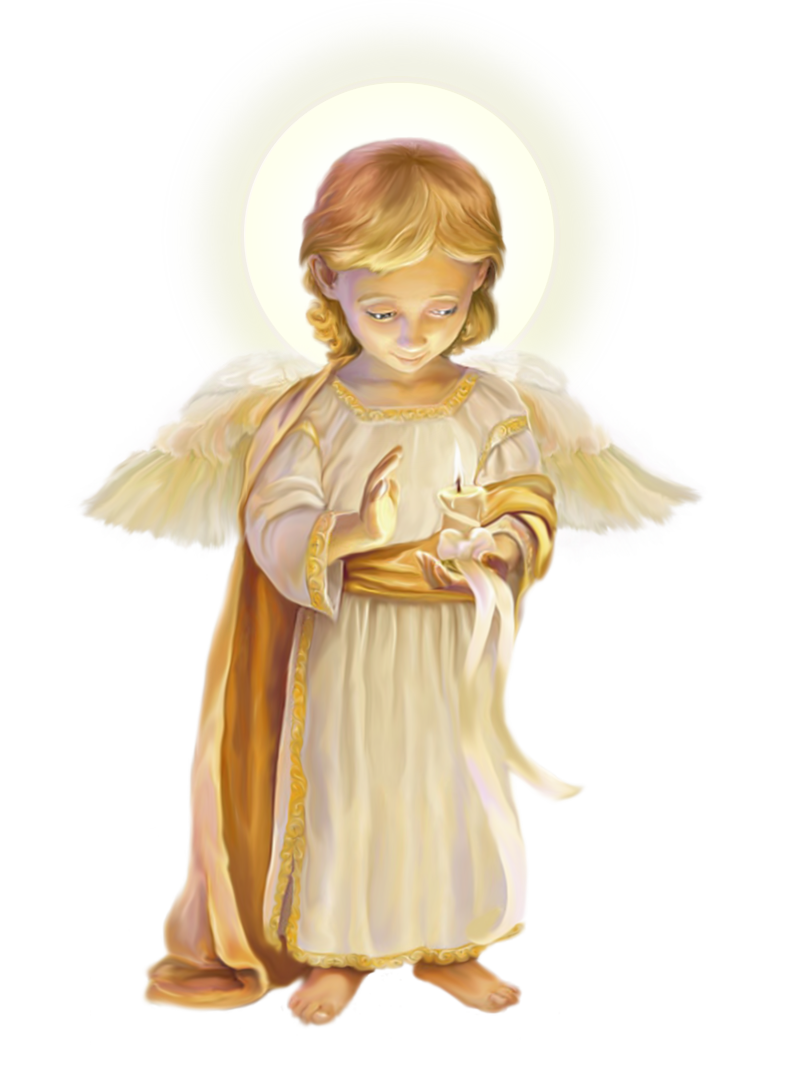 Heaven vector angels. Little angel with candle