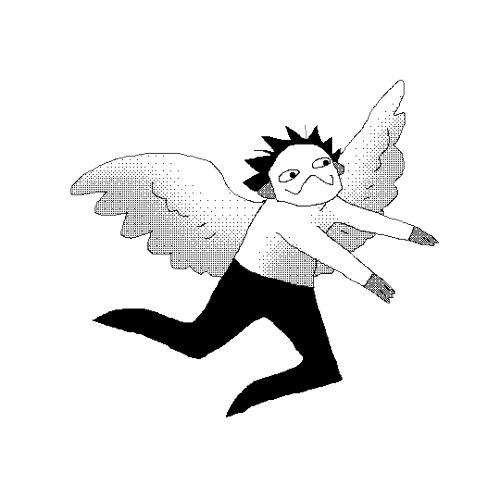 Angels floatin art png. Transparent feather tumblr floating