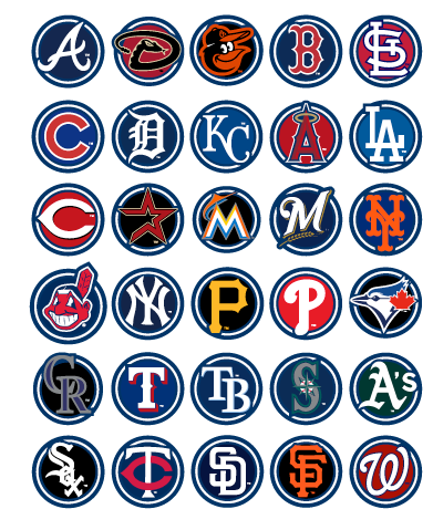 Mlb logos png. Picture click quiz by