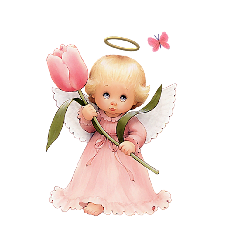 Angel baby png. Cute with tulip free