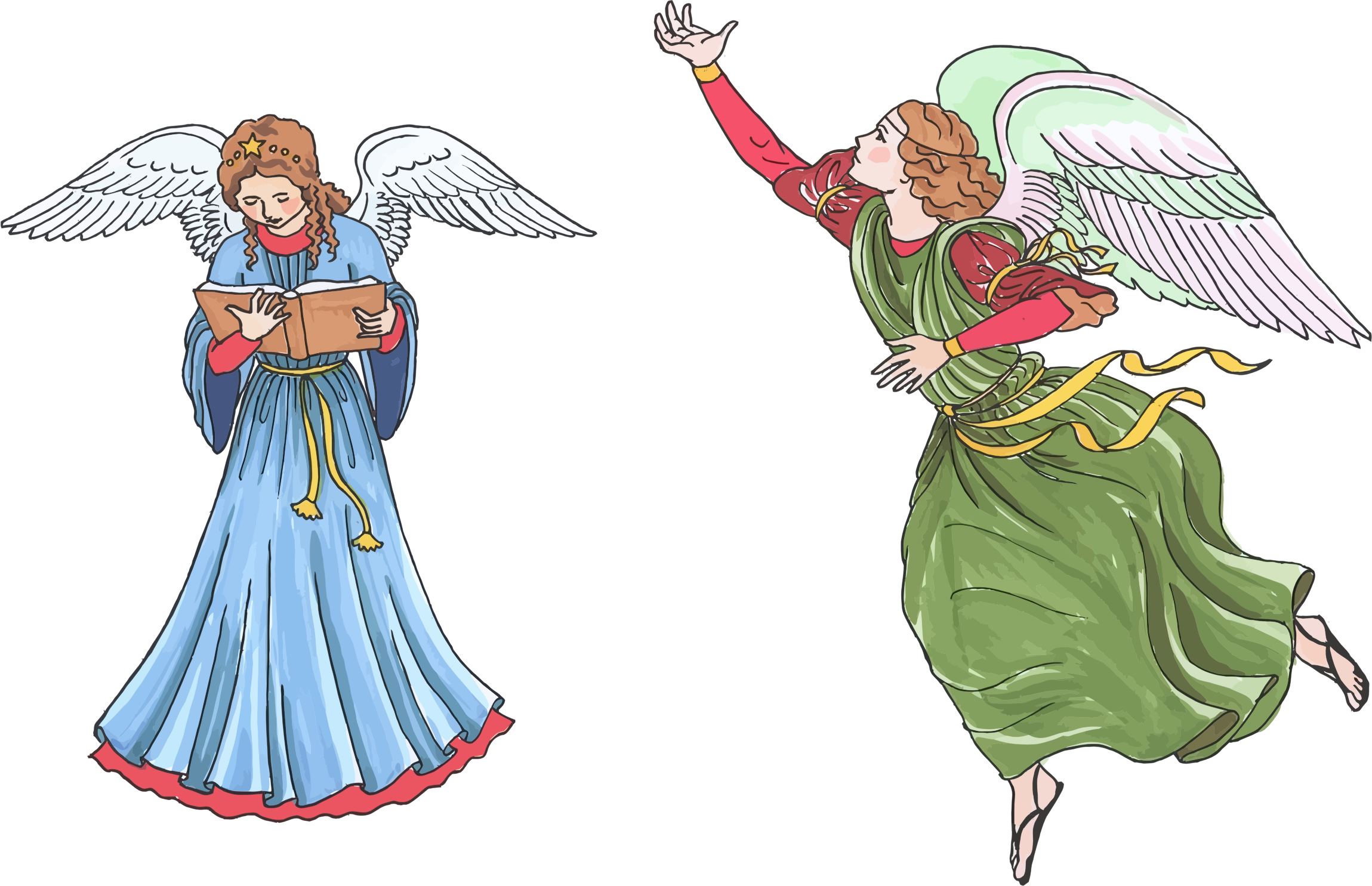 Angels png png. Two female icons free