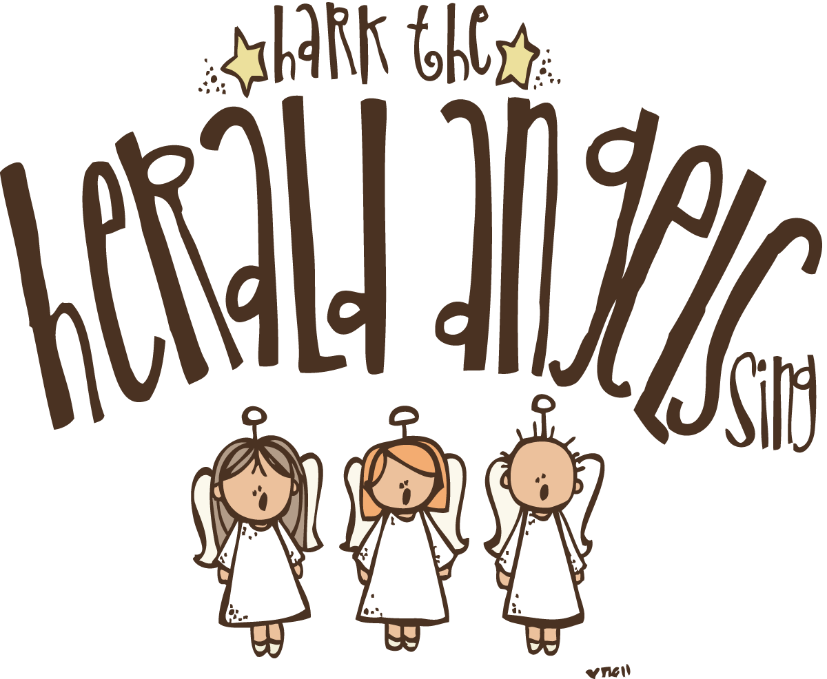 Angels start to sing and png. Hark the herald clipart