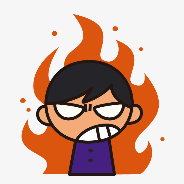 Anger clipart. Cartoon angry boy png