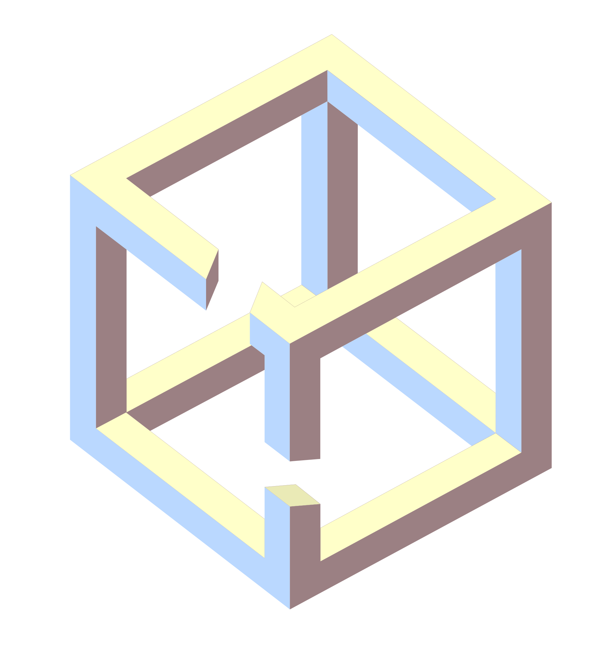 Cubes vector impossible. File cube different angle