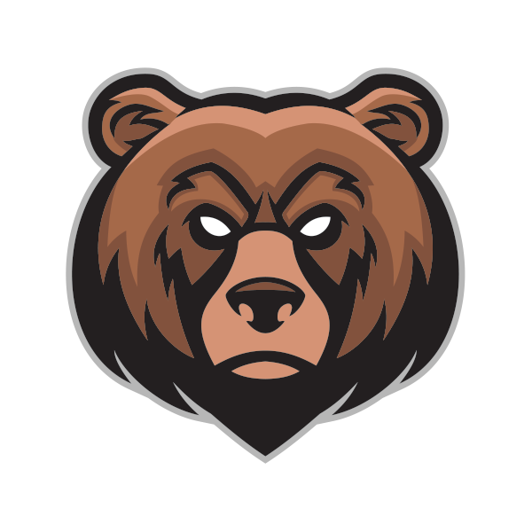 Angry bear png. Printed vinyl head stickers