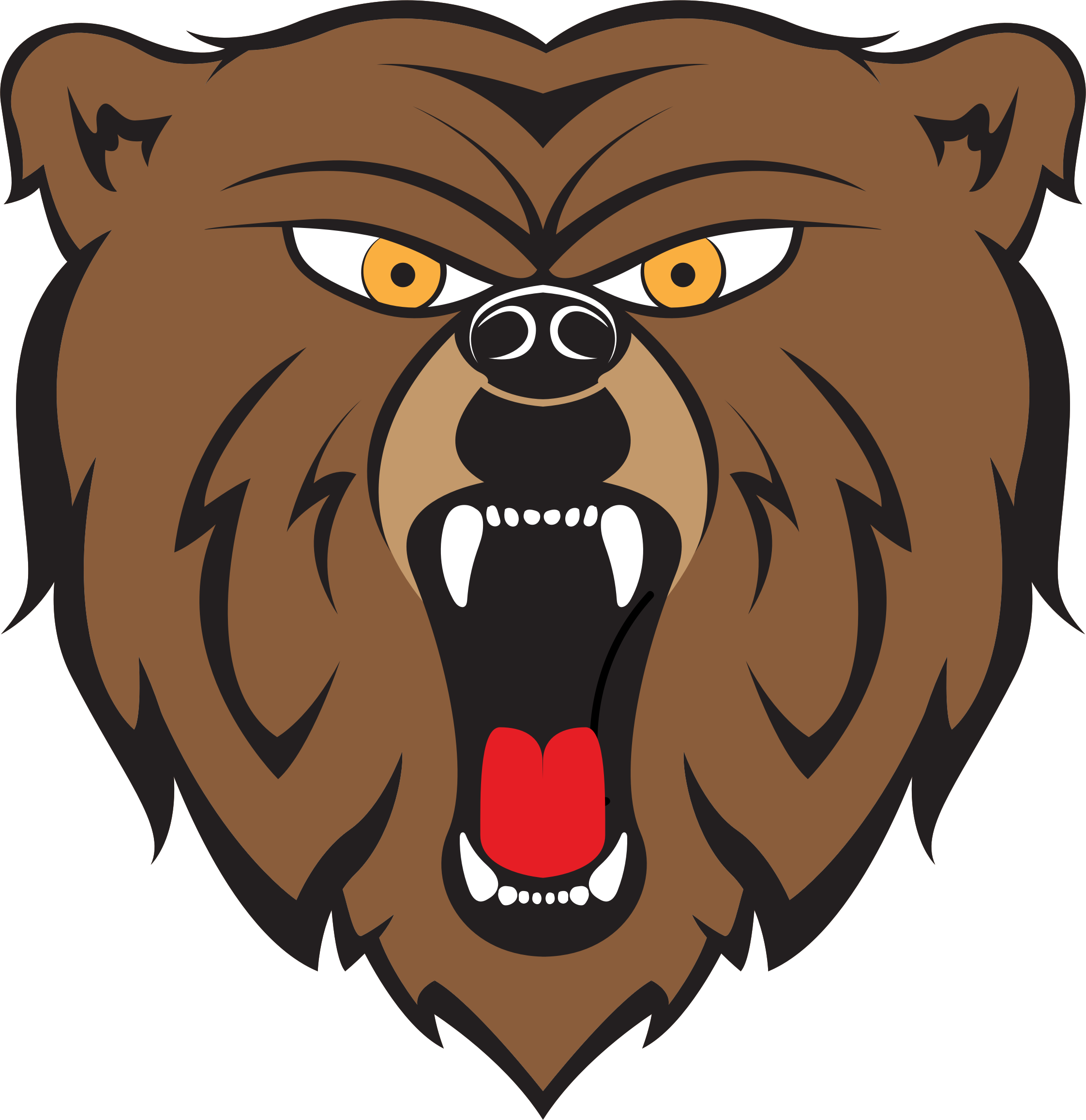 Angry bear png. By hulmdesign icons free