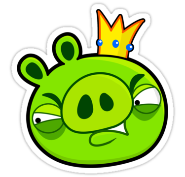 Angry birds pig png. Image work sticker x