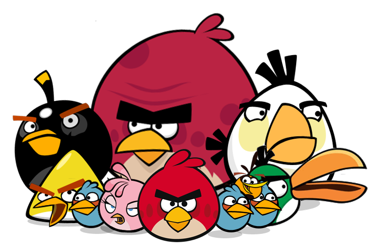 Angry birds png. Transparent background free icons