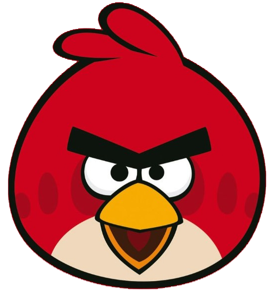 Angry birds red png. Image front beak open