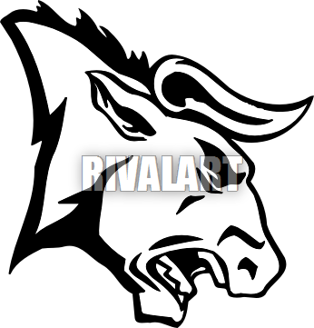 Angry bull png. Tribal wolf drawing head