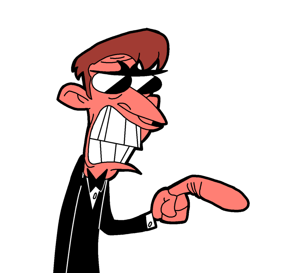 Angry cartoon png. Pointing guy digital version