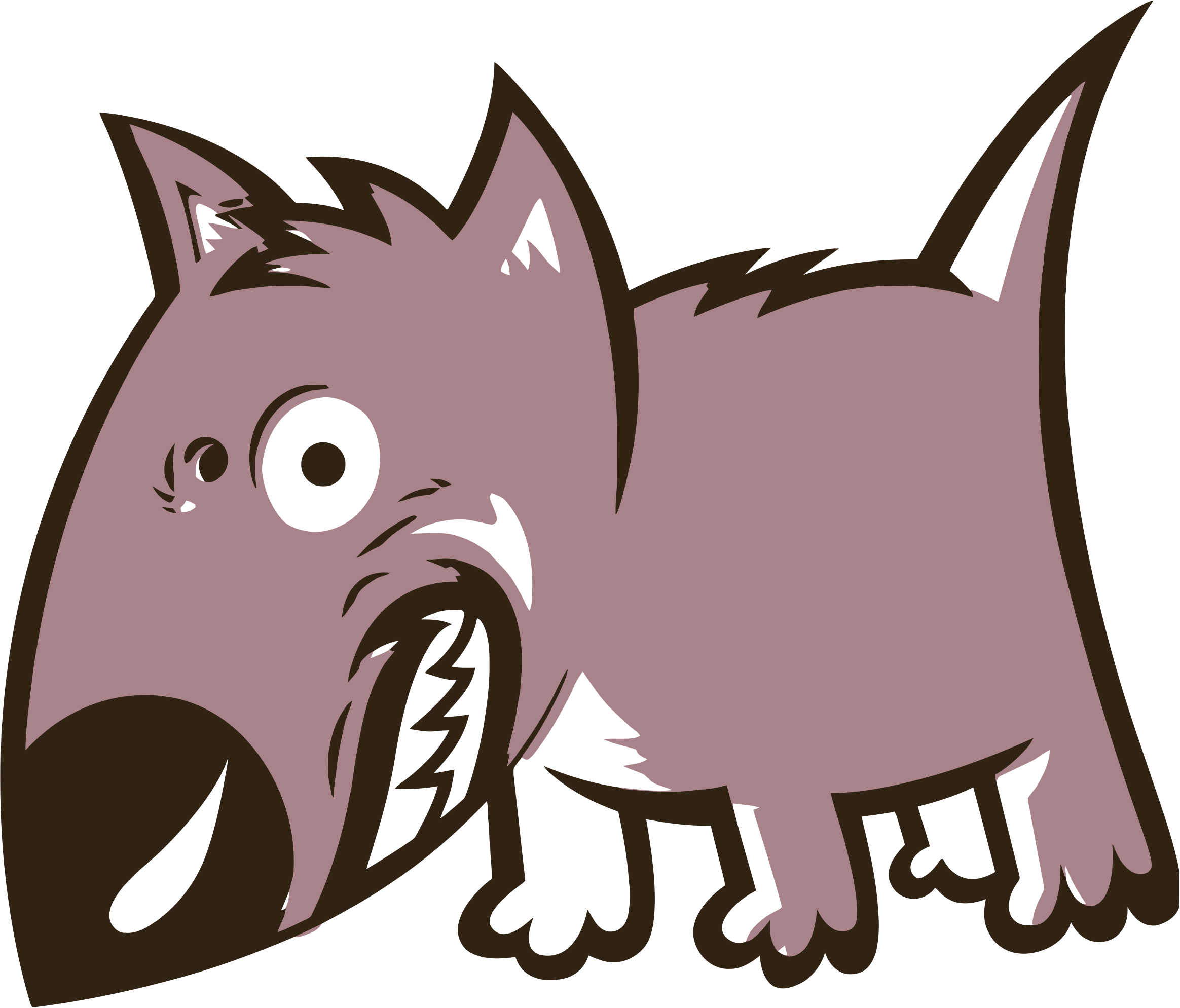 Angry cartoon png. Growling dog icons free