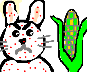 Angry clipart corn. Measles rabbit dislike the