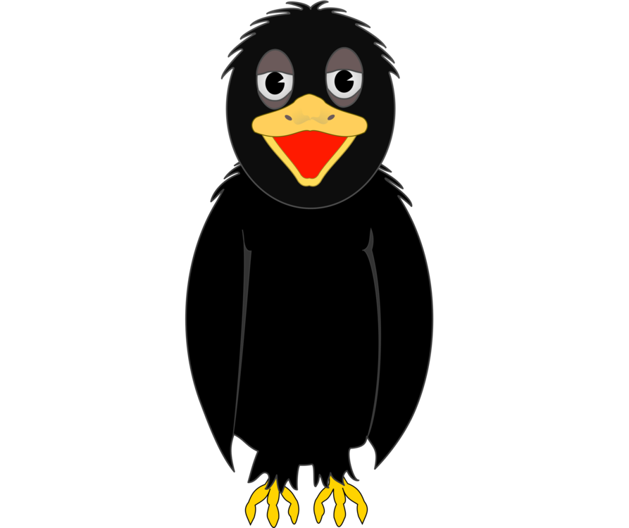 Angry clipart crow. Family computer icons common