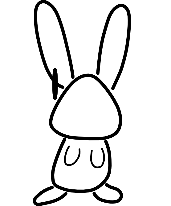 Angry clipart rabbit. Free black and white