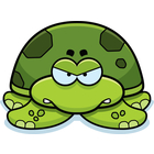 Angry clipart turtle.