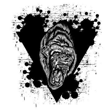 Angry gorilla png. Images vectors and psd