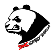 Angry panda png. Water bottle spreadshirt