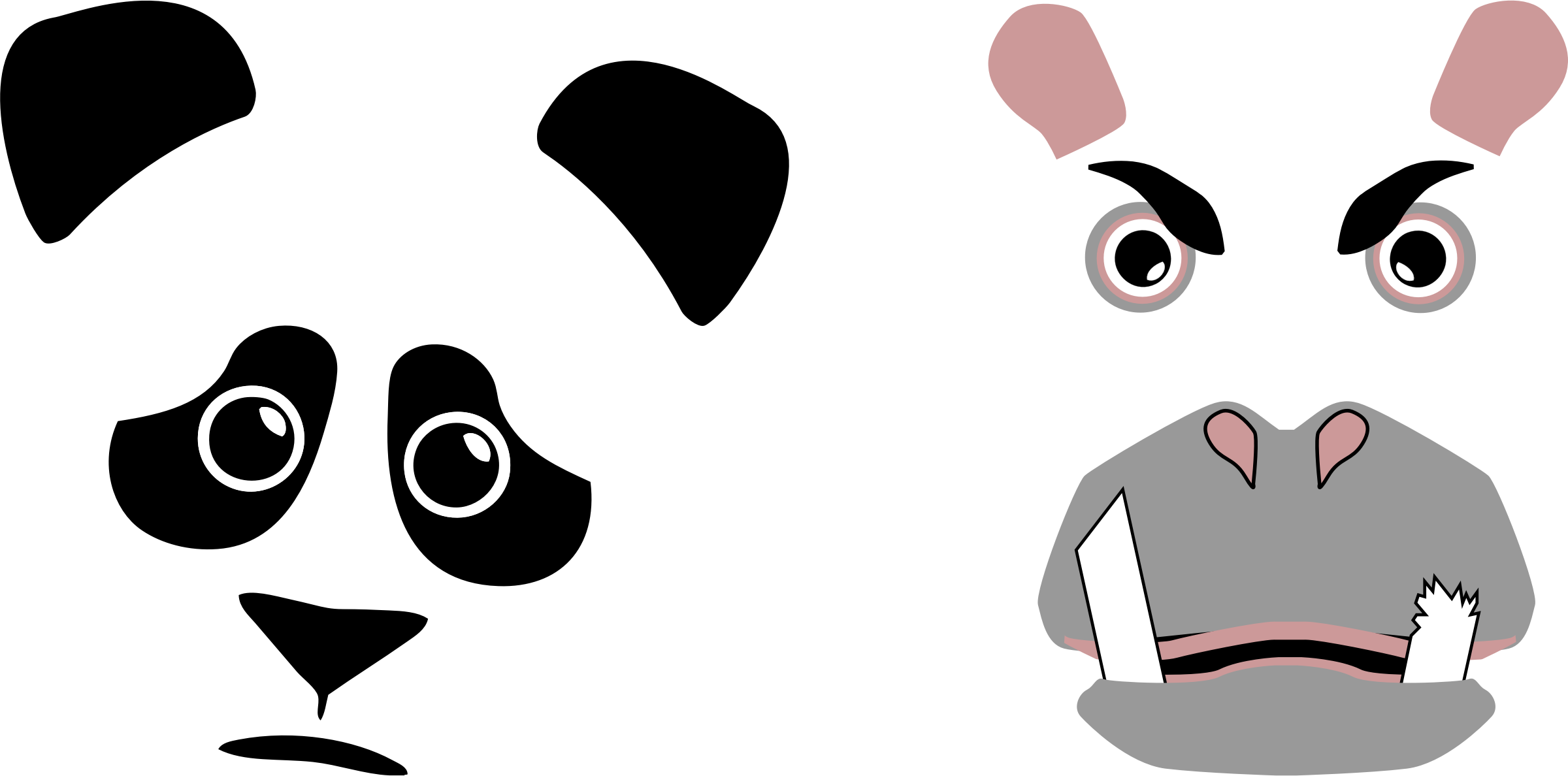 Angry panda png. Hippo best friends forever