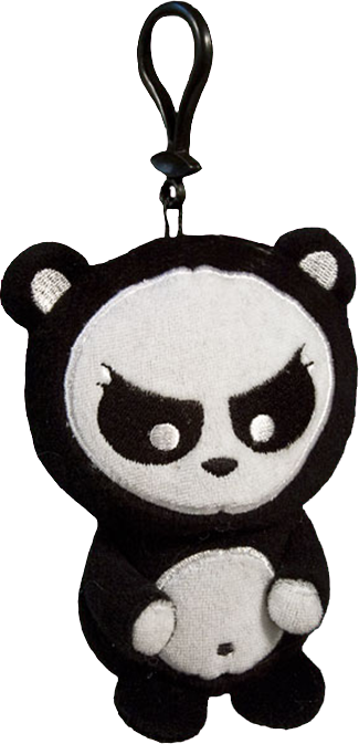 Angry panda png. Clip on plush ozzie